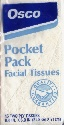 Osco pochet pack facial tissues